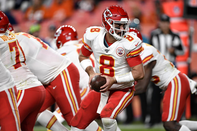 Kansas City Chiefs quarterback Matt Moore will get a shot to replace Patrick Mahomes on Sunday. (Getty Images)
