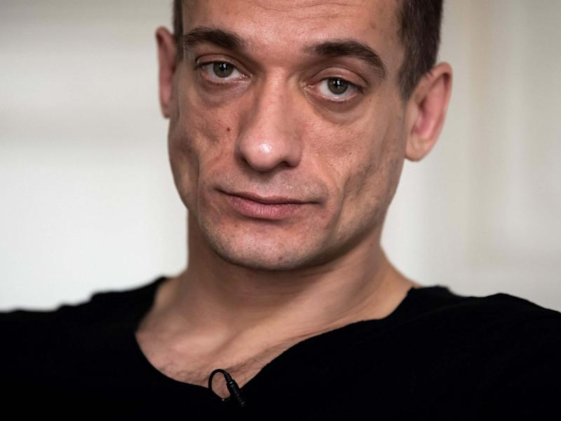 Russian artist Pyotr Pavlensky has claimed he posted the compromising videos online: AFP via Getty Images