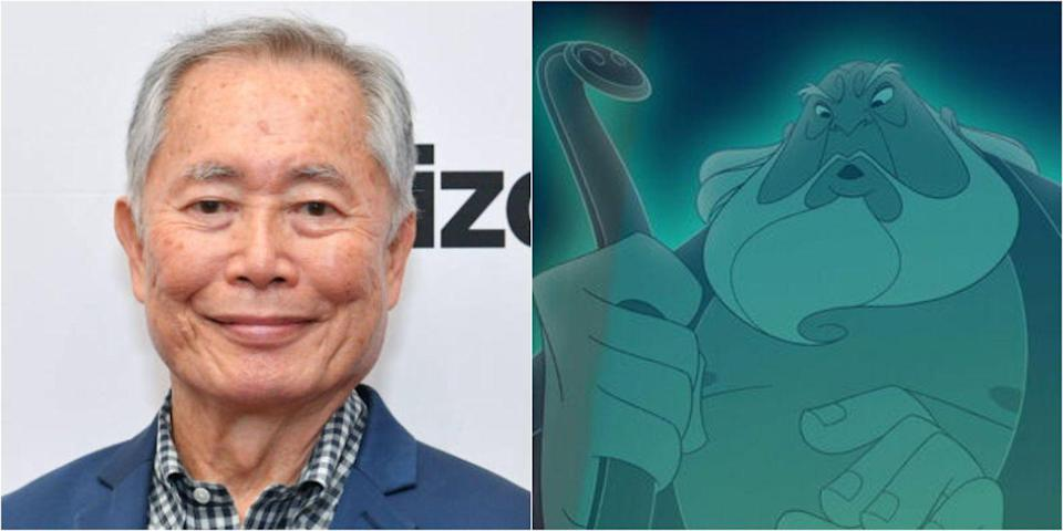 <p>Best known for his role as Hikaru Sulu in the <em>Star Trek</em> TV series, George Takei lends his voice in <em>Mulan</em> as the founder of the Fa family. He continued the role in the sequel to the film.</p>