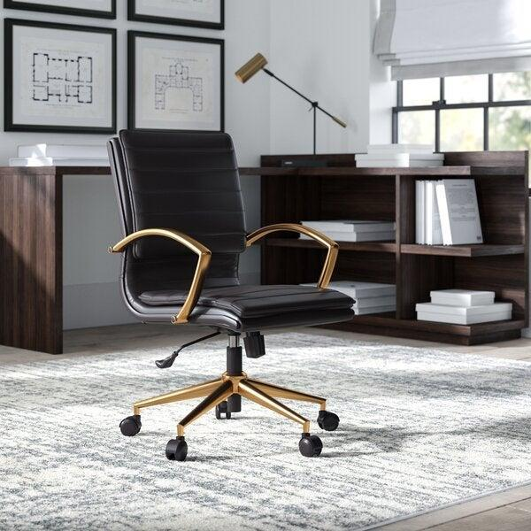 "<h2>Greyleigh Opheim Conference Chair</h2> <br><strong>Best For: Stylish Support</strong><br>While this chair is not quite as ergonomic as the previous option, it is decidedly more stylish — while still offering solid lumbar support, back-angle adjustment, center-tilt capabilities, and properly aligned armrests. <br><br><strong>The Hype: </strong>4.6 out of 5 stars and 270 reviews on <a href=""https://www.wayfair.com/furniture/pdp/greyleigh-opheim-conference-chair-gryl4903.html"" rel=""nofollow noopener"" target=""_blank"" data-ylk=""slk:Wayfair"" class=""link rapid-noclick-resp"">Wayfair</a><br><br><strong>Comfy Butts Say: </strong>""This is a great looking chair at a good price (I did a lot of shopping around!). It is also quite comfortable. I sat in the same chair at work for 13+ years and my back, shoulders, and neck were constantly hurting. I recently started working from home and using this chair and I never have back, shoulder, or neck pain anymore.""<br><br><strong>Greyleigh</strong> Opheim Conference Chair, $, available at <a href=""https://go.skimresources.com/?id=30283X879131&url=https%3A%2F%2Fwww.wayfair.com%2Ffurniture%2Fpdp%2Fgreyleigh-opheim-conference-chair-gryl4903.html"" rel=""nofollow noopener"" target=""_blank"" data-ylk=""slk:Wayfair"" class=""link rapid-noclick-resp"">Wayfair</a><br><br><br><br><br><br>"