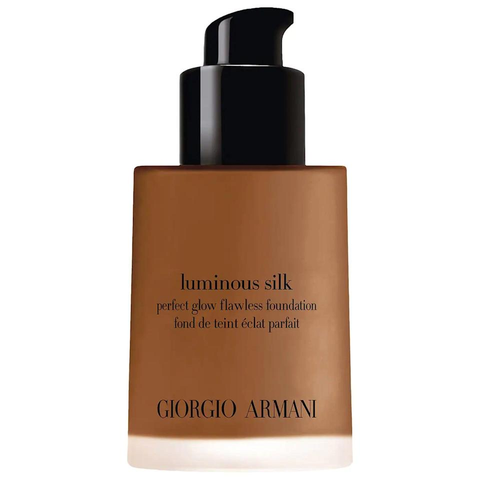 <p>This <span>Armani Beauty Luminous Silk Perfect Glow Flawless Oil-Free Foundation</span> ($64) is beloved by makeup artists and editors alike, but it can be pricey, so now's the chance to score your shade!</p>