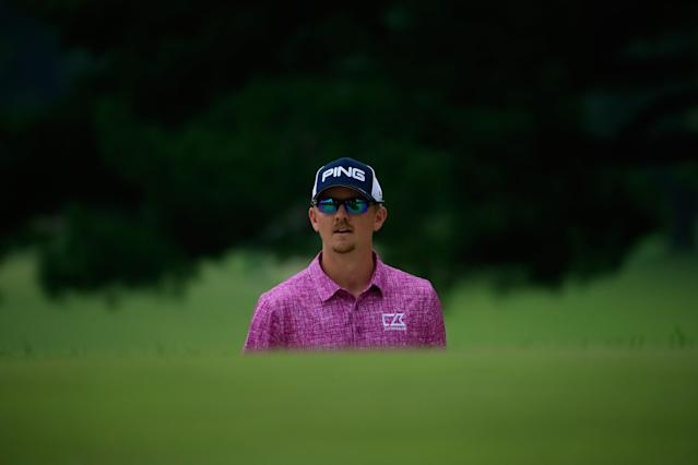 Jim Knous is a 28-year-old who played college golf at Colorado School of Mines. How a mountain man with a civil engineering degree grabbed a PGA Tour card