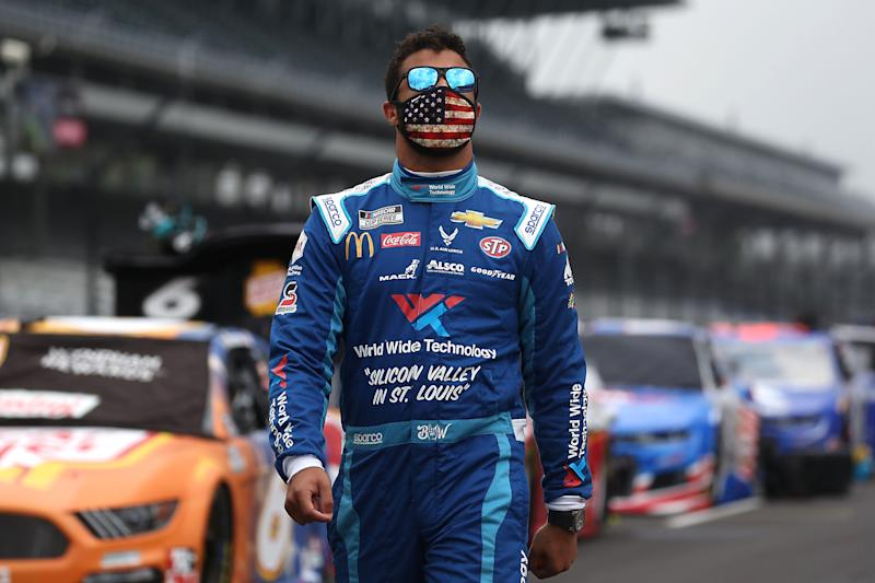 Bubba Wallace believes President Donald Trump has more things to worry himself with than a NASCAR issue. (Chris Graythen/Getty Images)