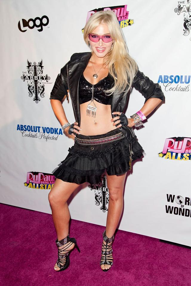 "Emii arrives at the ""RuPaul's Drag Race: All Stars"" Premiere Party at The Abbey on October 16, 2012 in West Hollywood, California."