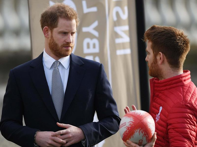 Prince Harry hosts the draw for the Rugby League World Cup: EPA