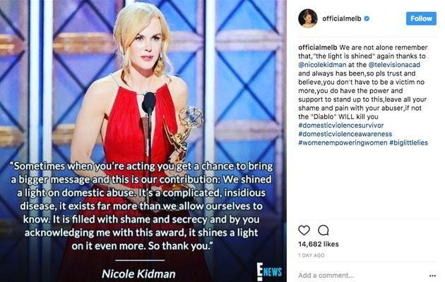 The singer shared this emotional message of thanks to the actress on her social media. Source: Instagram