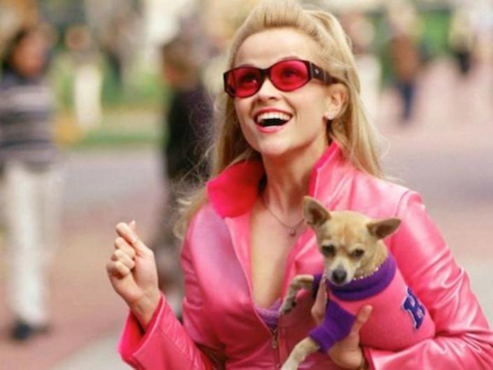 """Reese Witherspoon starred in """"Legally Blonde"""" as Elle Woods."""