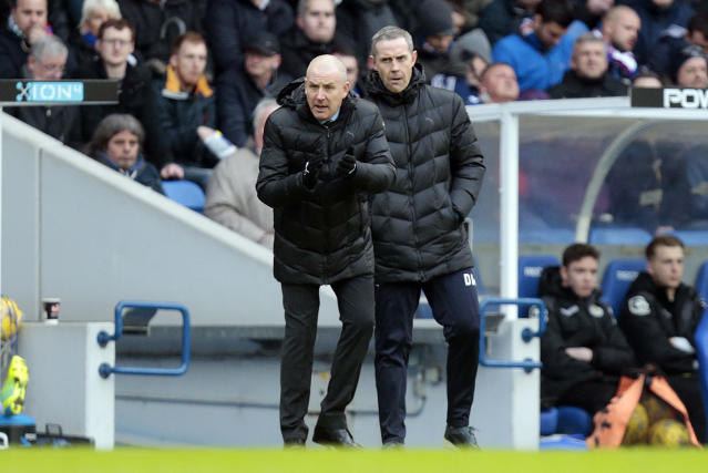 Football Soccer - Rangers v St Mirren - Ladbrokes Scottish Championship - Ibrox - 27/2/16 Rangers' manager Mark Warburton (L) and assistant manager David Weir Mandatory Credit: Action Images / Graham Stuart Livepic EDITORIAL USE ONLY.