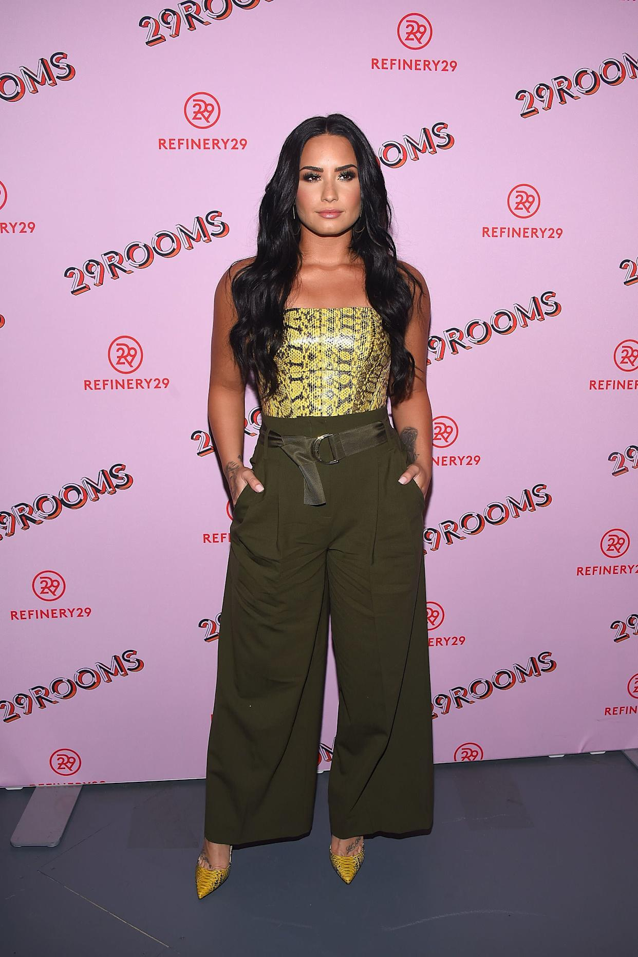 LOS ANGELES, CA - DECEMBER 06: Demi Lovato attends Refinery29 29Rooms Los Angeles: Turn It Into Art at ROW DTLA on December 6, 2017 in Los Angeles, California. (Photo by Araya Diaz/WireImage)