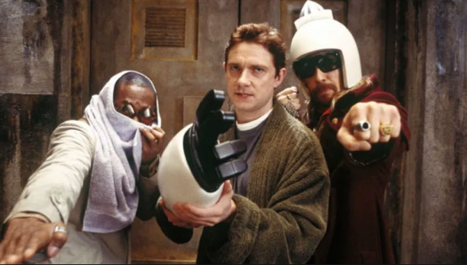Mos Def, Martin Freeman and Sam Rockwell in the 2005 movie (Credit: Buena Vista)