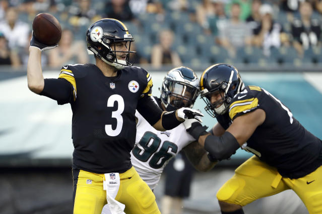 Former Pittsburgh Steelers quarterback Landry Jones is the first player to sign with the XFL. (AP)