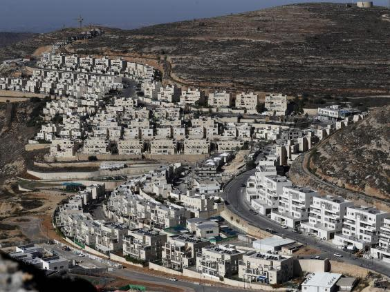 A view of the Israeli settlement of Givat Zeev, near the Palestinian city of Ramallah in the occupied West Bank (AFP via Getty)