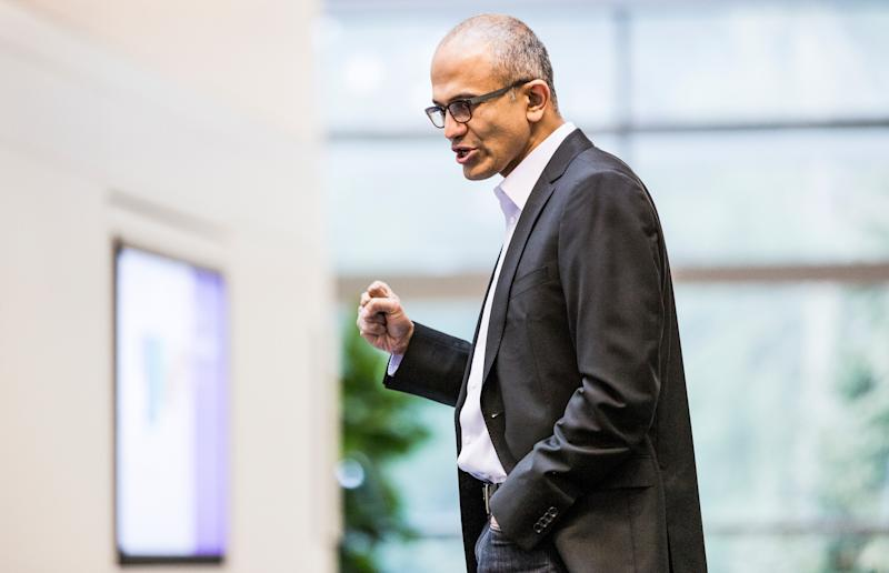 This undated photo provided by Microsoft shows Satya Nadella. Microsoft announced Tuesday, Feb. 4, 2014, that Nadella will replace Steve Ballmer as its new CEO. Nadella will become only the third leader in the software giant's 38-year history, after founder Bill Gates and Ballmer. Board member John Thompson will serve as Microsoft's new chairman. (AP Photo/Microsoft)