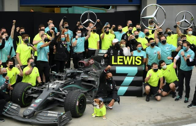 Lewis Hamilton clinched his seventh world title in Turkey