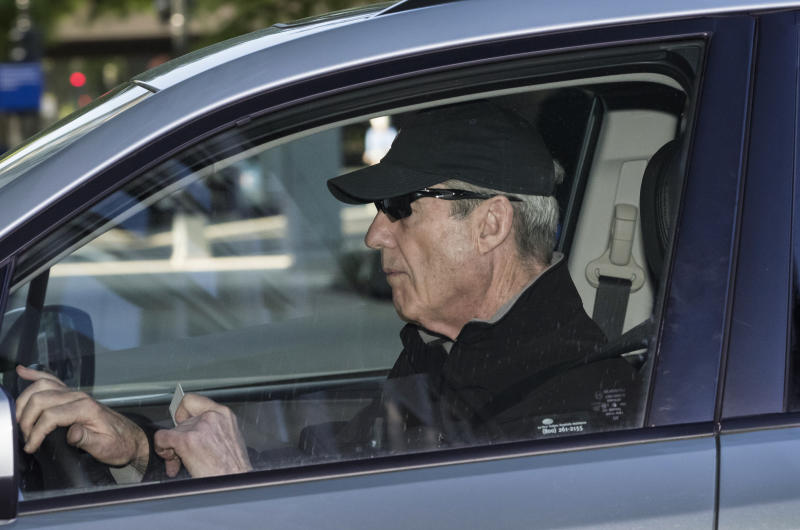 Special counsel Robert Mueller arrives at his office in Washington, Tuesday, April 23, 2019, a month after he turned over his investigation into Russian interference in the 2016 presidential election and possible obstruction of justice by President Trump. (AP Photo/J. Scott Applewhite)