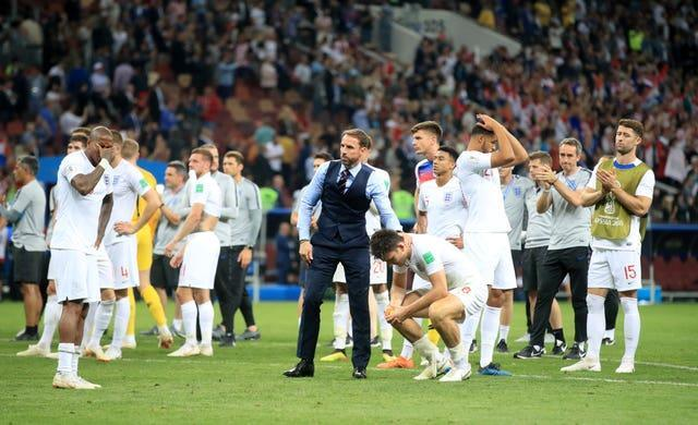 England were left disappointed after going out to Croatia in added time in 2018