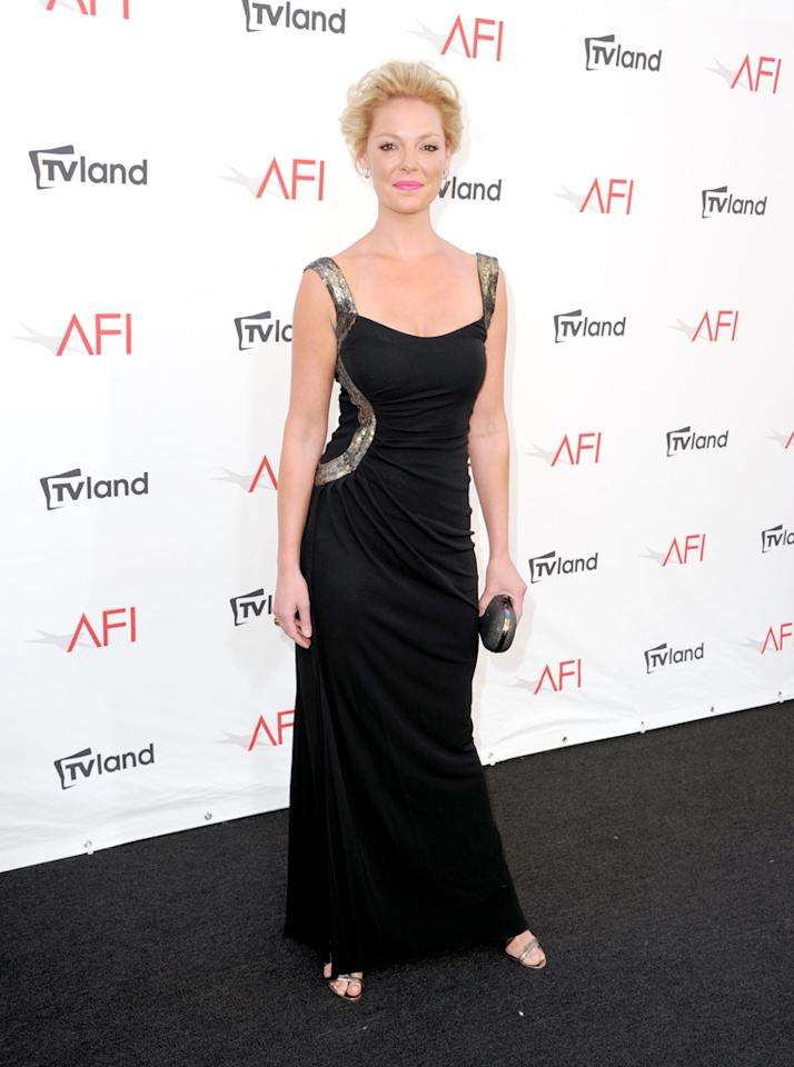 Katherine Heigl arrives at AFI's 40th Annual Life Achievement Award held at Sony Pictures Studios on June 7, 2012 in Culver City, California.