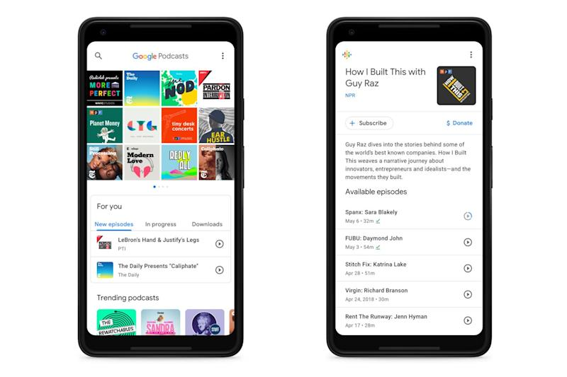 Google Podcasts uses AI to suggest new series to try out: Google