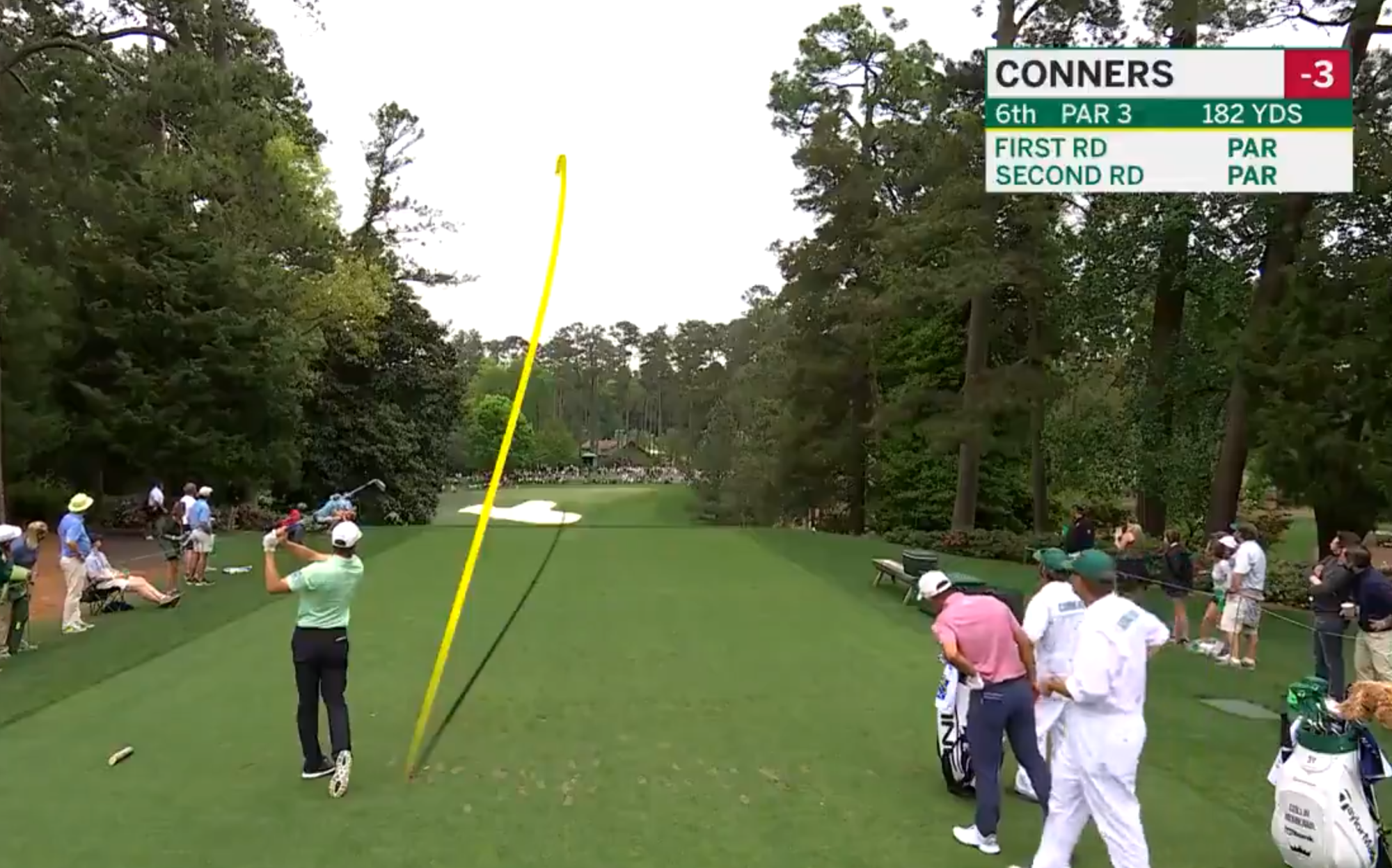 Contending Canadian Corey Conners drains historic hole-in-one at the Masters