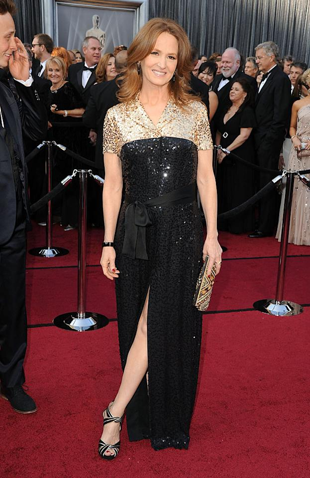 Melissa Leo arrives at the 84th Annual Academy Awards in Hollywood, CA.