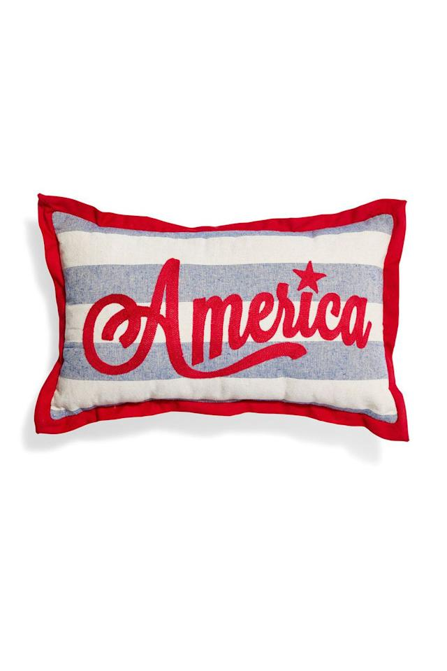 "<p>$10</p><p><a rel=""nofollow"" href=""http://www.kirklands.com/product/Misc/Free-Ship-to-Store/Holiday-Free-Ship-to-Store/America-Stripe-Accent-Pillow/pc/2343/c/2371/sc/2742/227482.uts"">SHOP NOW</a></p><p>Spruce up a bare outdoor couch with this pillow outfitted with a pop of American colors. </p>"