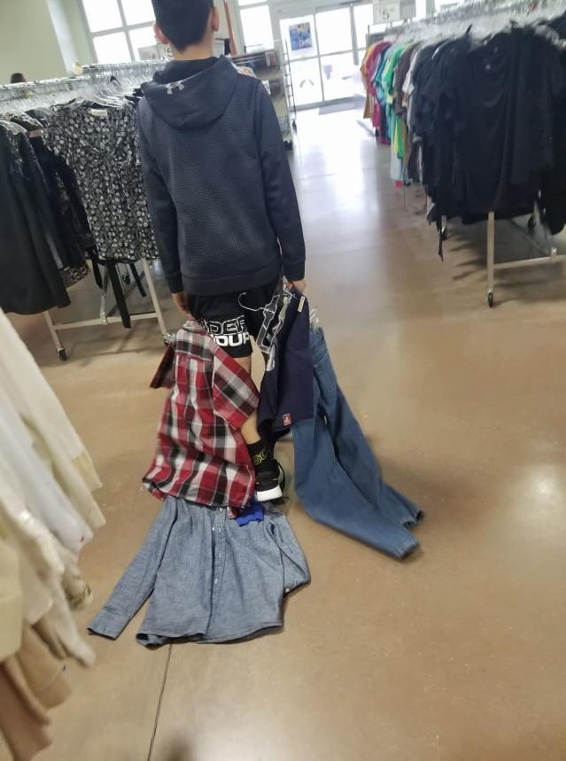 """A teen whose mom said was acting """"entitled"""" about clothes learned a budget-conscious lesson. (Photo: Facebook/Cierra Brittany Forney)"""