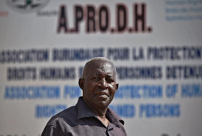Pierre-Claver Mbonimpa, a well-known human rights defender in restive Burundi, was seriously injured in a shooting in the capital on August 3, 2015 (AFP Photo/Carl De Souza)