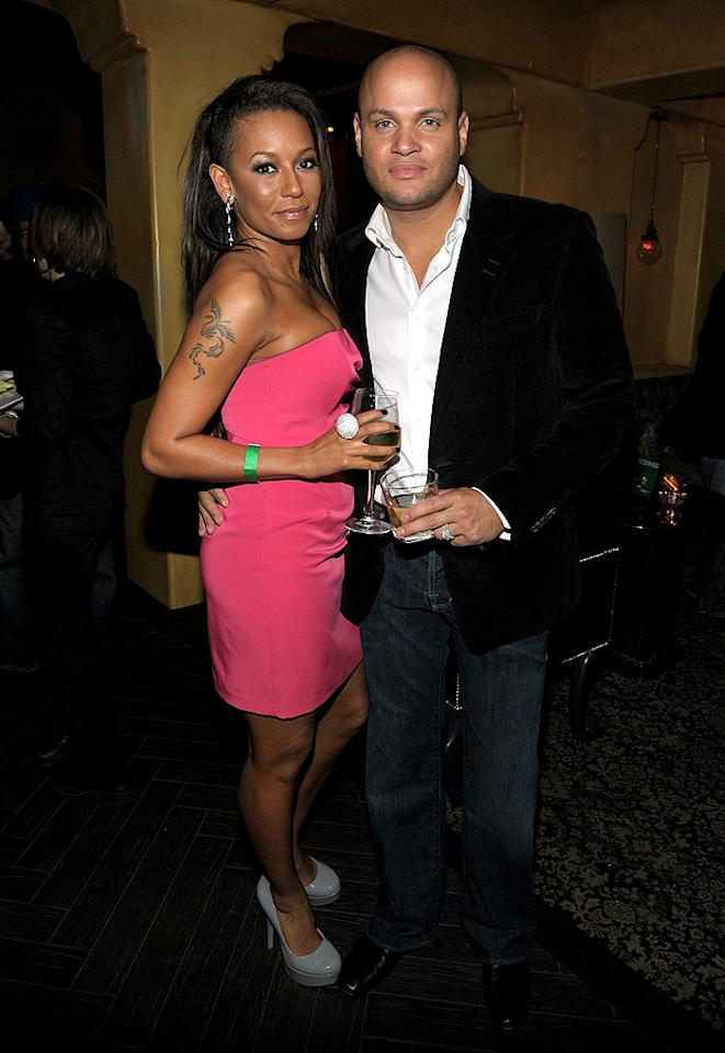 """Another girl group veteran, Melanie """"Scary Spice"""" Brown, and husband Stephen Belafonte took time to unwind with some cocktails. After her ugly breakup with Eddie Murphy, do you think Mel B has finally found her prince in the film producer? Michael Buckner/<a href=""""http://www.gettyimages.com/"""" target=""""new"""">GettyImages.com</a> - March 3, 2010"""
