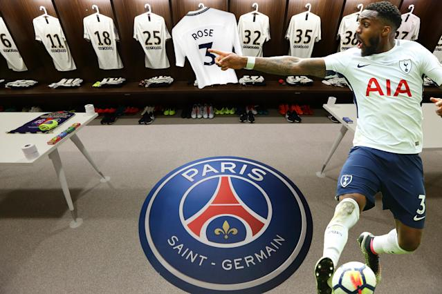 Sneak pictures appear to show Danny Rose's shirt in the PSG dressing room – as he is quick to point out