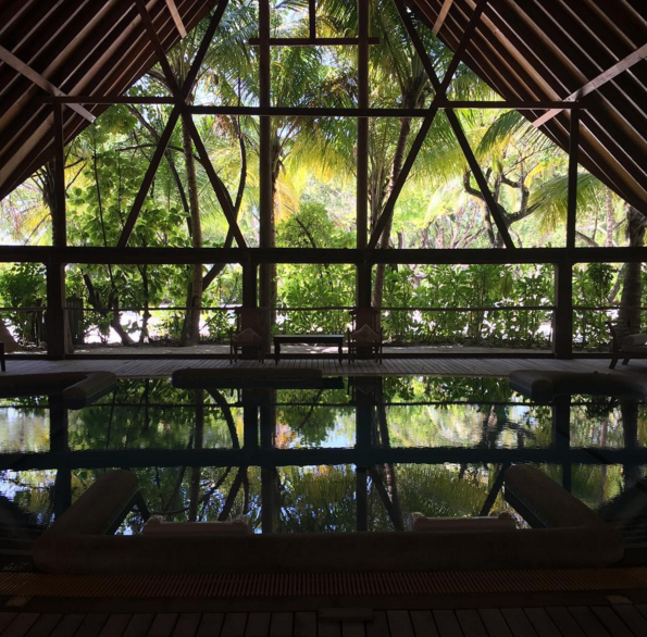 """<p>Set in a Balinese tropical rainforest, this <a href=""""http://www.comoshambhala.com/"""" rel=""""nofollow noopener"""" target=""""_blank"""" data-ylk=""""slk:luxury spa"""" class=""""link rapid-noclick-resp"""">luxury spa</a> provides two meals per day, yoga, guided hikes and an Ayurvedic spa. <i>(Photo: <a href=""""https://www.instagram.com/p/_53LWsJ7pm/?tagged=comoshambhala"""" rel=""""nofollow noopener"""" target=""""_blank"""" data-ylk=""""slk:Instagram"""" class=""""link rapid-noclick-resp"""">Instagram</a>)</i></p>"""