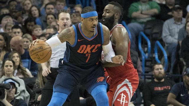 Carmelo Anthony agreed to a deal with the Rockets earlier this month after he received a buyout from the Hawks.