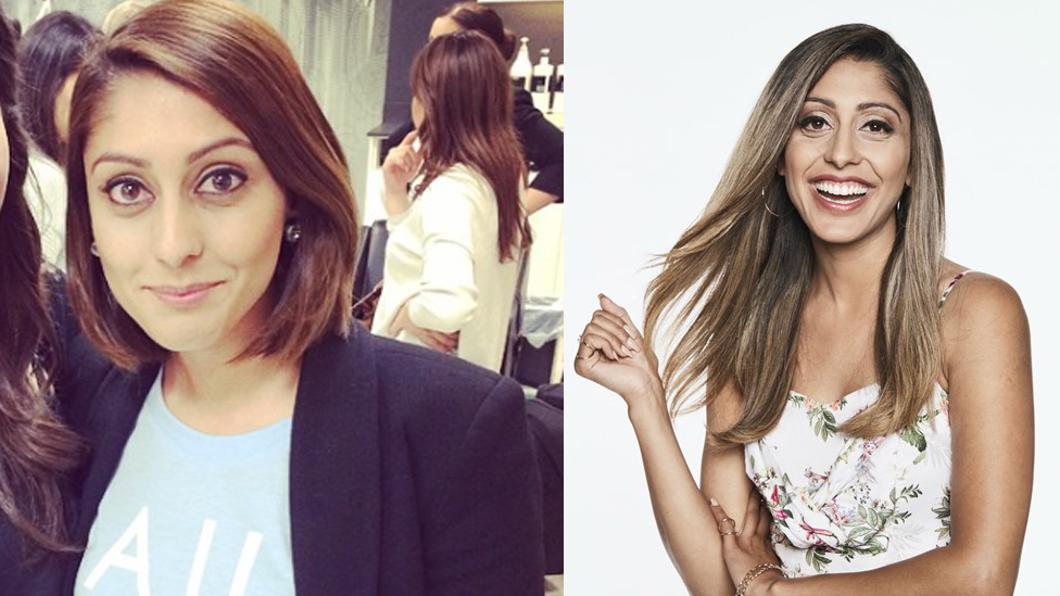 <p>Sunnie in 2014 (L) and now (R).<br />Source: Instagram/thesunnielife and Channel Seven </p>