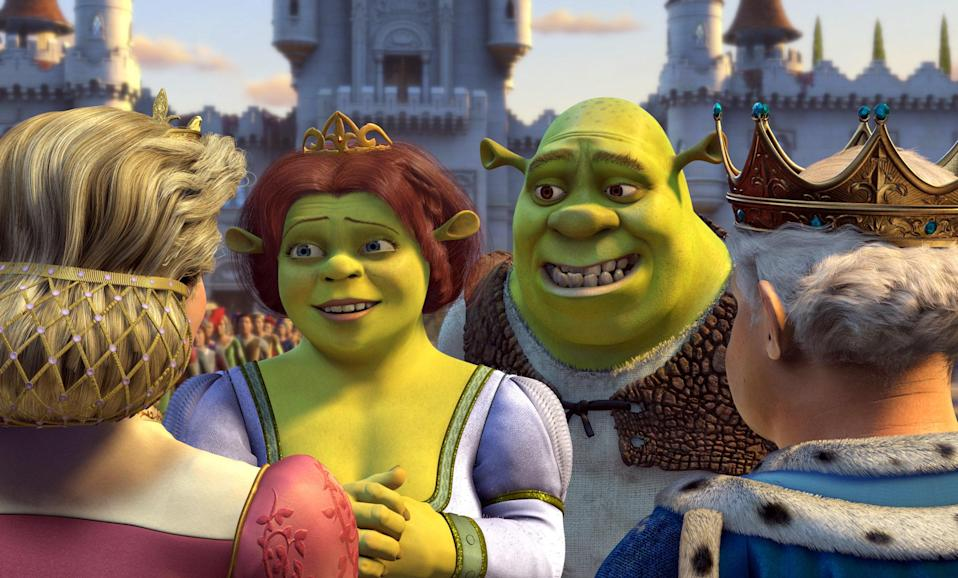"""<p> The power of the <em>Shrek</em> franchise is that the sequel somehow managed to appeal equally to adults and kids alike (the soundtrack slaps, BTW). <em>Shrek 2</em> has the secret sauce: fun cameos from strong secondary characters (Puss in Boots and Donkey were mainstays in this film), combined with truly unexpected feats of animated cinematography. Toward the end of the film, the movie's antagonist Fairy Godmother breaks into song during a pivotal scene and performs Bonnie Tyler's """"Holding Out for a Hero"""" as Shrek and company storm a castle to save Fiona. This scene is so delightful; I dare you to try not to laugh out loud at the intricate silly details—like how they use an XXL cup of hot milk to dissolve a life-size gingerbread cookie. Yes, you read that right. — <em>BJ</em></p> <p><a href=""""https://www.amazon.com/Shrek-2-Andrew-Adamson/dp/B079HS16MZ/ref=sr_1_1?dchild=1&keywords=Shrek+2&qid=1592942019&s=instant-video&sr=1-1"""" rel=""""nofollow noopener"""" target=""""_blank"""" data-ylk=""""slk:Stream on Amazon Prime Video"""" class=""""link rapid-noclick-resp""""><em>Stream on Amazon Prime Video</em></a> </p>"""
