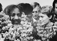 <p>Farrow joined religious leader, Maharishi Mahesh Yogi, in 1968 for a meditation retreat in India. The actress accompanied him back to India after his tour in the United States. </p>