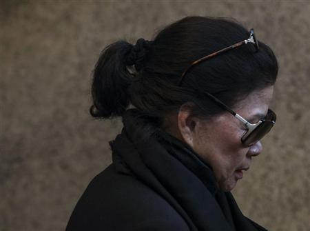 Vilma Bautista, the ex-secretary of former Philippine first lady Imelda Marcos, leaves Manhattan Criminal Court in New York