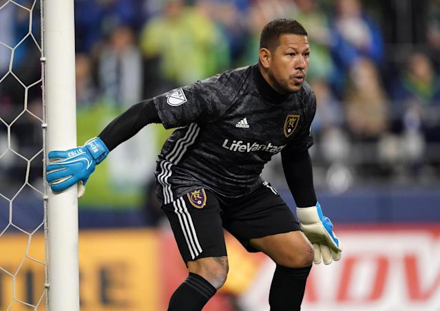 Nick Rimando ended his terrific career with Real Salt Lake's playoff loss to the Seattle Sounders. (Reuters)