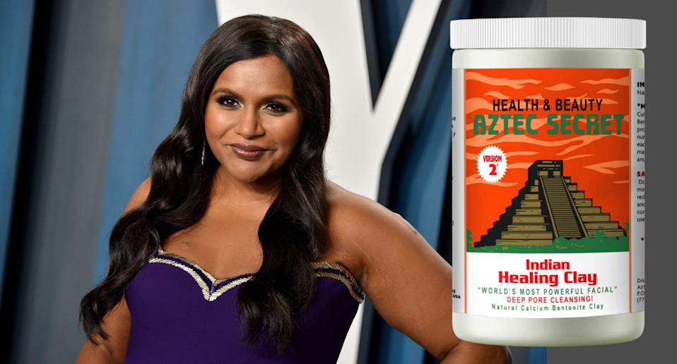 Mindy Kaling says this $17 face mask 'really works' for her oily skin (Photos via Getty Images & Amazon)