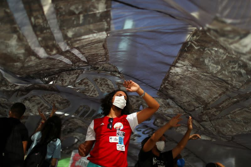 Protest calling for the impeachment of Brazil's President Jair Bolsonaro and against his handling of the coronavirus disease (COVID-19) pandemic, in Rio de Janeiro