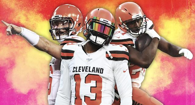 The Big Three of the Browns (Photo by Paul Rosales/Yahoo Sports)