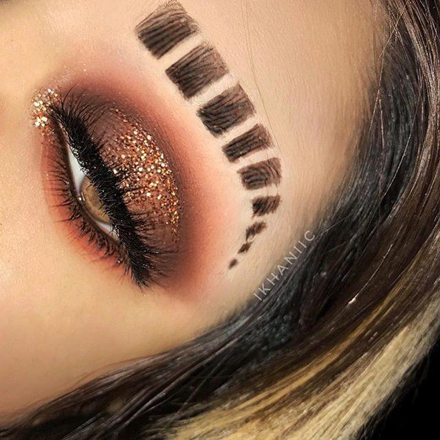 """Beauty blogger Menal Khan took to Instagram to show off her """"boxed brows"""" but the looks is eerily similar to eyebrow cuts rappers have worn since the late 1980s. (Photo: Instagram/ mєηαl.κhαη)"""