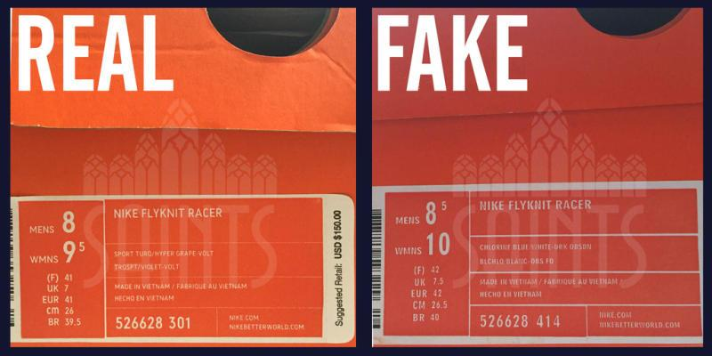 a94d3a8a0135 How to Tell If Your Nike Flyknit Racers Are Real or Fake