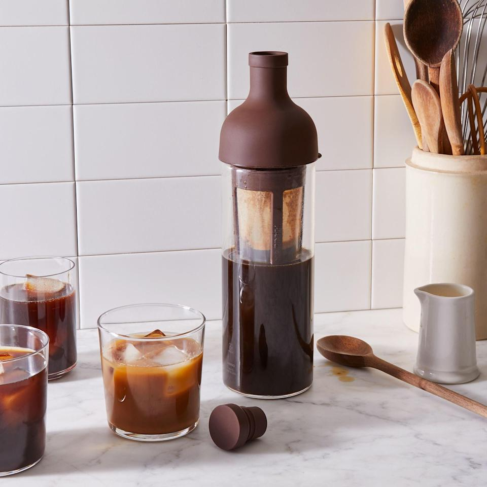 <p>If they're all about cold brew, then they'll want the <span>Hario Cold Brew Coffee Bottle</span> ($34), specially made in Japan. They can just fill the container with coffee grounds and water, and let sit for eight hours. The useful size makes up to five cups, so they can use it for a few days.</p>