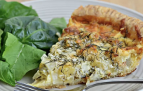 """<p>Apple and cheddar are a natural pair, and the sharp fennel plays well with both. This particular quiche has all the cozy fall flavors and it's so satisfying for a savory breakfast that you can assemble ahead of time and serve fresh from the oven. This is right up there with <a href=""""https://www.thedailymeal.com/50-best-brunch-recipes?referrer=yahoo&category=beauty_food&include_utm=1&utm_medium=referral&utm_source=yahoo&utm_campaign=feed"""" rel=""""nofollow noopener"""" target=""""_blank"""" data-ylk=""""slk:the best brunch recipes of all time"""" class=""""link rapid-noclick-resp"""">the best brunch recipes of all time</a>.</p> <p><a href=""""https://www.thedailymeal.com/best-recipes/apple-fennel-cheddar-cheese-quiche?referrer=yahoo&category=beauty_food&include_utm=1&utm_medium=referral&utm_source=yahoo&utm_campaign=feed"""" rel=""""nofollow noopener"""" target=""""_blank"""" data-ylk=""""slk:For the Apple, Fennel and Cheddar Quiche recipe, click here"""" class=""""link rapid-noclick-resp"""">For the Apple, Fennel and Cheddar Quiche recipe, click here</a>.</p>"""