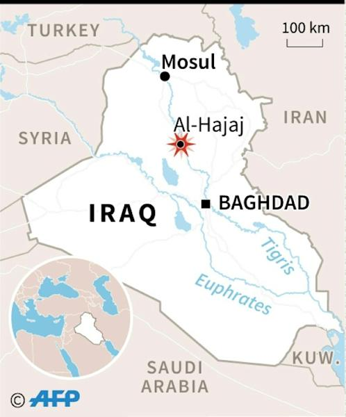 The suicide bombers struck a wedding celebration in the Al-Hajaj area, north of the city of Tikrit