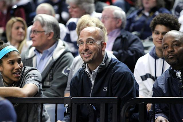 Watch James Franklin freak out when PSU receivers coach Josh Gattis gets 'dunked on' (Video)