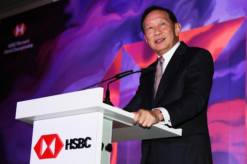 SINGAPORE, SINGAPORE - FEBRUARY 26: Chief Executive of HSBC, Peter Wong attends a welcome dinner prior to the HSBC Women's World Championship at Sentosa Golf Club on February 26, 2019 in Singapore. (Photo by Ross Kinnaird/Getty Images)
