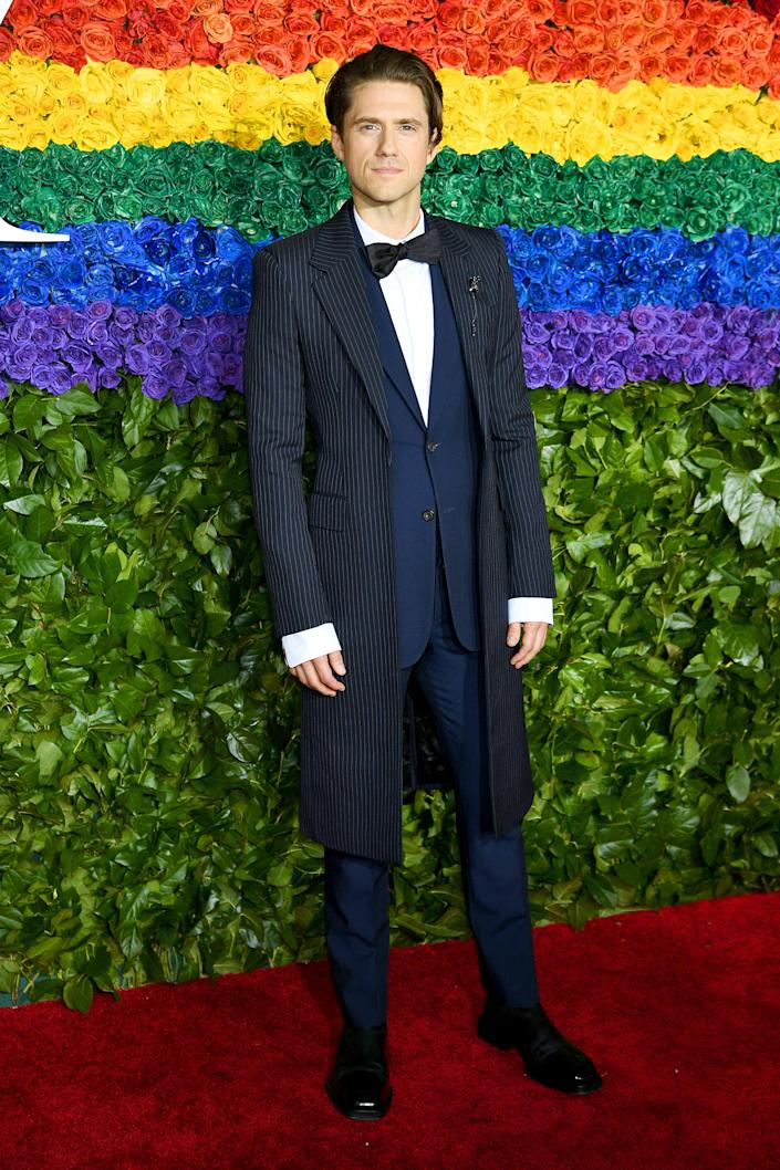NEW YORK, NEW YORK - JUNE 09: Aaron Tveit attends the 73rd Annual Tony Awards at Radio City Music Hall on June 09, 2019 in New York City. (Photo by Dimitrios Kambouris/Getty Images for Tony Awards Productions ORG XMIT: 775348618 ORIG FILE ID: 1154855730