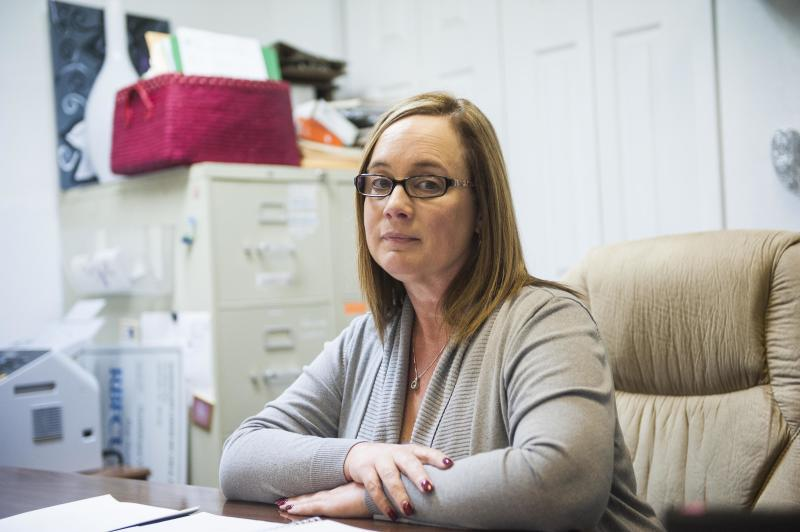 Jennifer Fernandez is director of the domestic violence shelter that serves Sutherland Springs.  (Melissa Jeltsen/HuffPost)