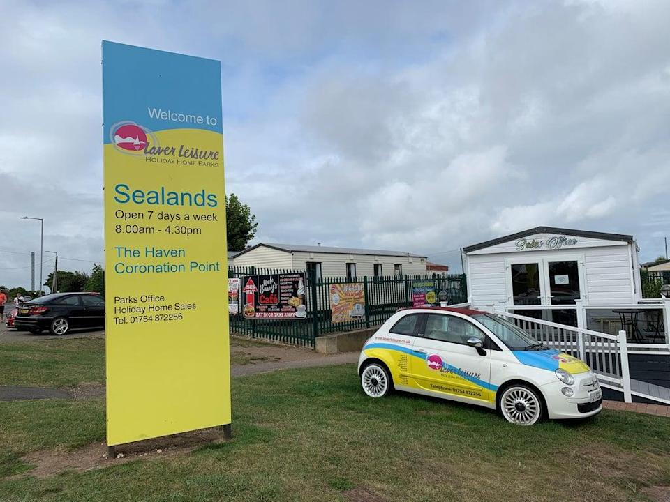 The Sealands Caravan Park in Ingoldmells, near Skegness where a two-year-old girl died (PA)