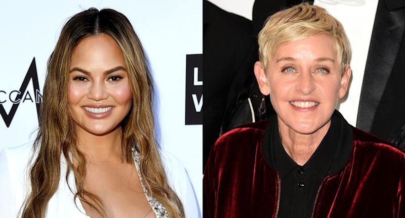 Chrissy Teigen and Ellen DeGeneres are both on Team Laurel. (Photo: Getty Images)